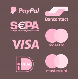 PayPal Bancontact Sepa Maestro Mastercard Visa American Express iDeal